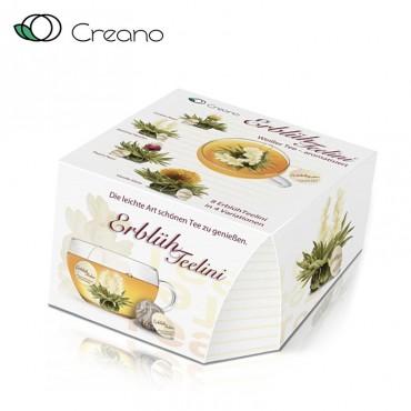 Creano virágzó tea doboz, 8 db csésze méretű fehér teával