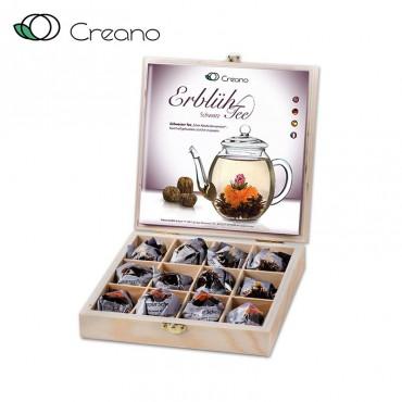 Creano virágzó tea fadoboz, 12 db fekete teával
